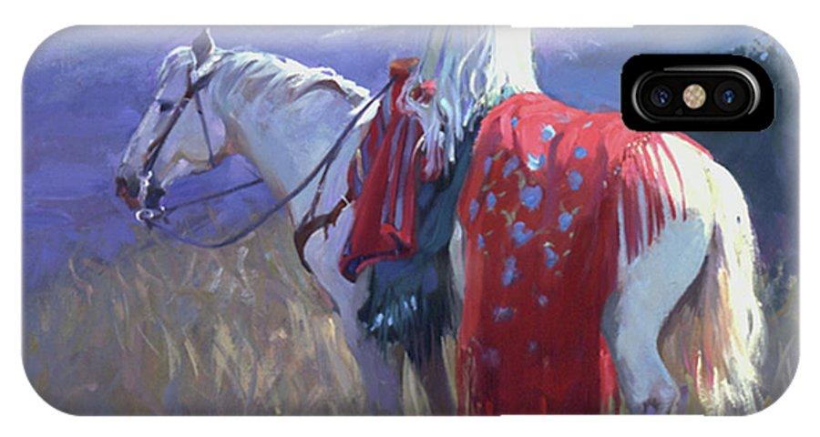 Native American IPhone X Case featuring the digital art Evening Solitude L. E. P. by Betty Jean Billups
