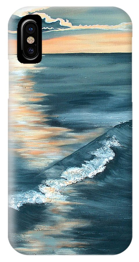 Beach Sunset IPhone X Case featuring the painting Evening Sunset by Racquel Morgan