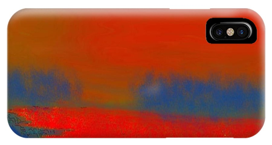 Sunset IPhone X Case featuring the digital art Evening Way To Dead Sea.fire Sunset by Dr Loifer Vladimir