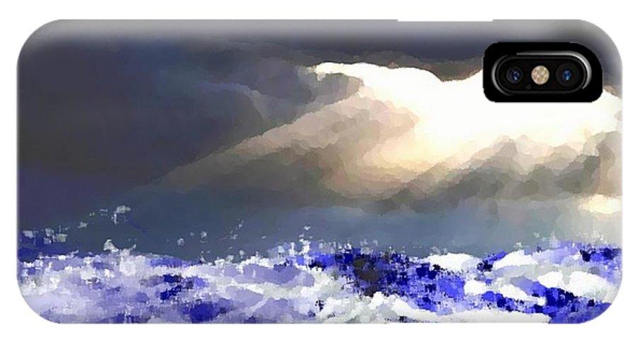 Evening IPhone X Case featuring the digital art Evening.Sea.Storm by Dr Loifer Vladimir