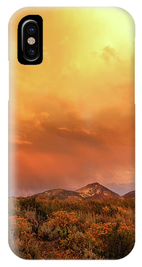 Sunset IPhone X Case featuring the photograph Eventide by Jennifer McMahon