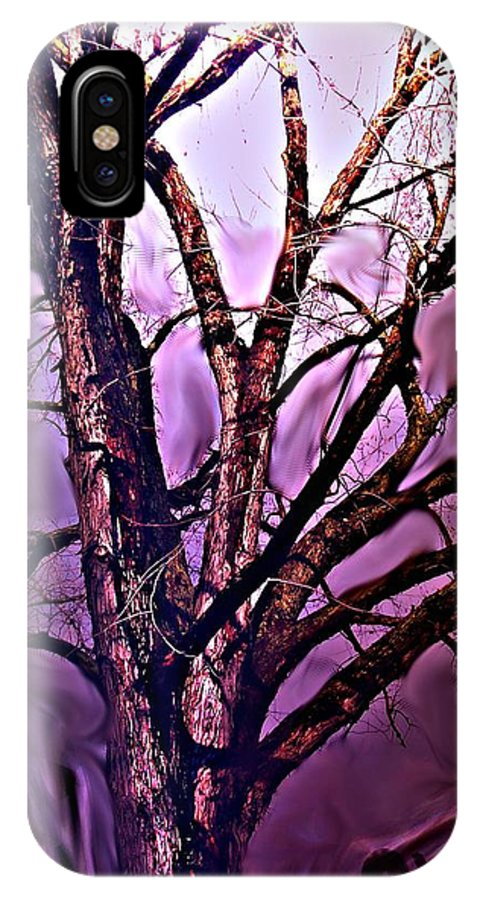 Woods IPhone X Case featuring the digital art Everlasting 2 by Crystal Webb