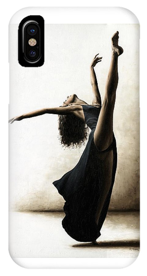 Dance IPhone X Case featuring the painting Exclusivity by Richard Young