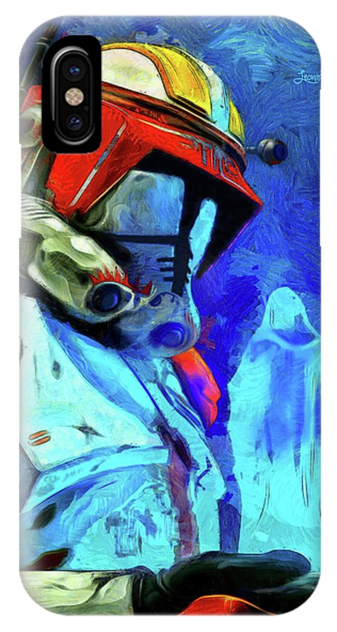 Execute Order 66 IPhone X / XS Case featuring the painting Execute Order 66 Remake by Leonardo Digenio