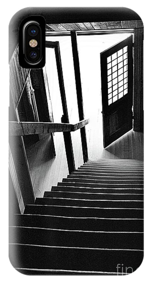Black And White IPhone X Case featuring the photograph Exit by Lauren Leigh Hunter Fine Art Photography