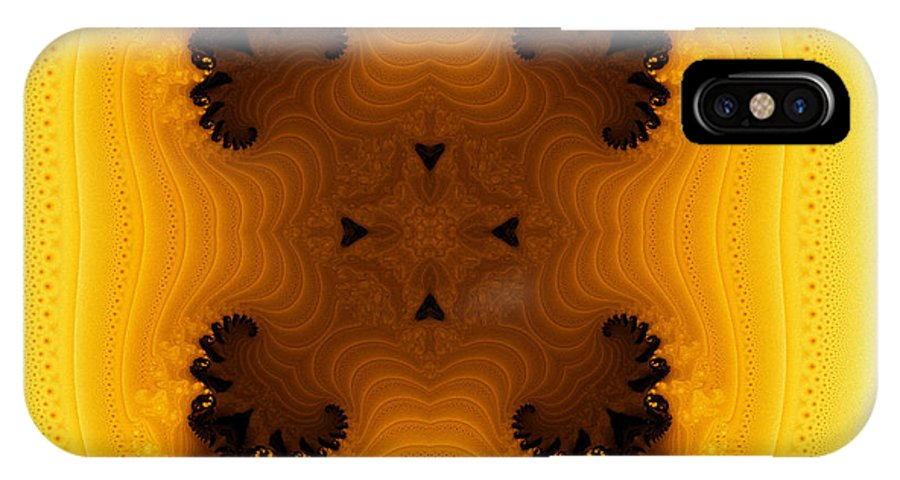 Fractal IPhone X Case featuring the digital art Exotic Tile 1 by Richard Ortolano