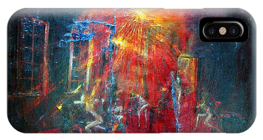 Imagination IPhone X Case featuring the painting Expectation by Wojtek Kowalski