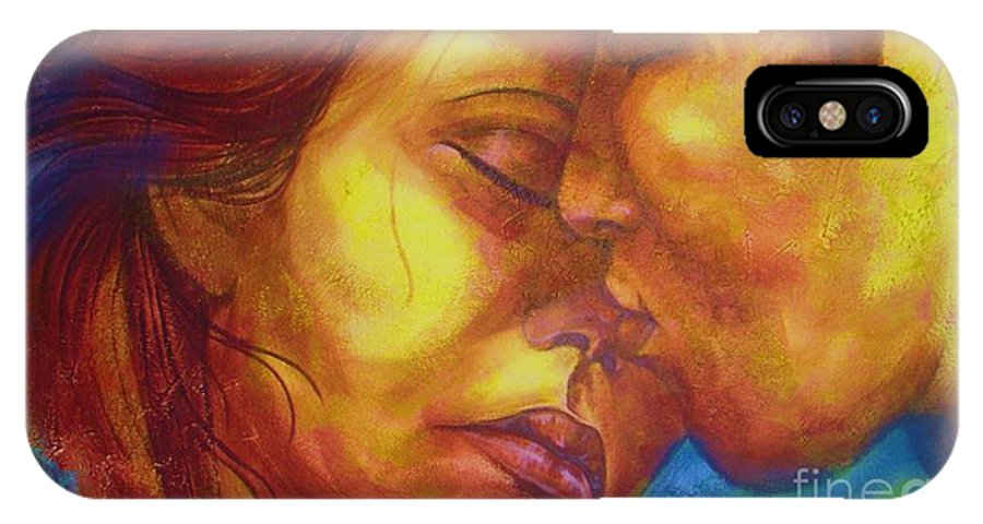 Kiss IPhone X Case featuring the photograph Expected Kisses by Vesna Antic
