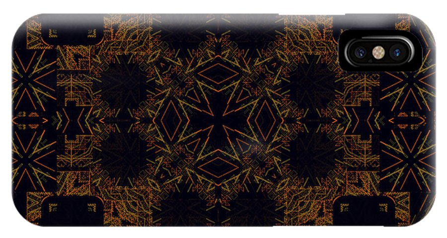 Symmetrical Abstract. IPhone X / XS Case featuring the digital art Experiment 99 3-30-2015#1 by Steven Harry Markowitz