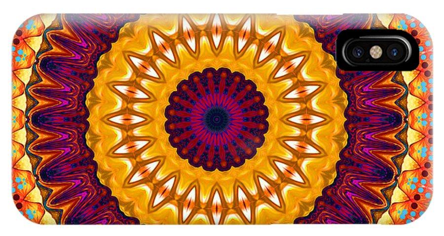 Digital IPhone X Case featuring the digital art Expression No. 7 Mandala by Joy McKenzie