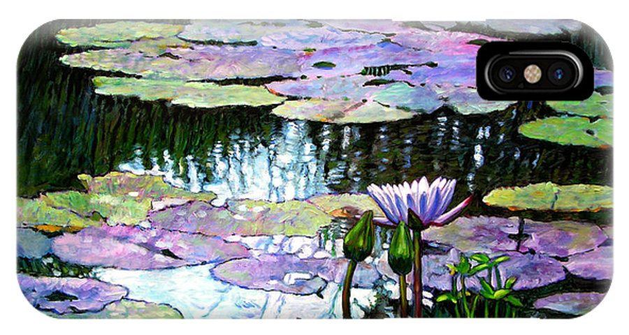 Landscape IPhone X Case featuring the painting Expressions of Love and Peace by John Lautermilch