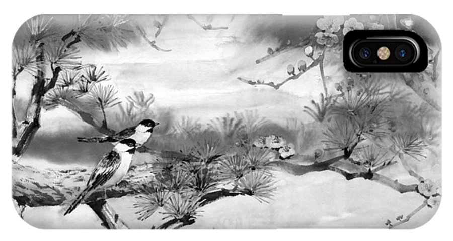 Chinese Painting IPhone Case featuring the painting Expressions Of Spring by Eileen Fong