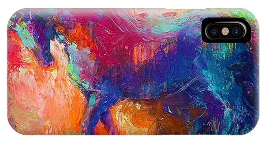 Instahorse IPhone X Case featuring the photograph Expressive Stallion Painting By by Svetlana Novikova