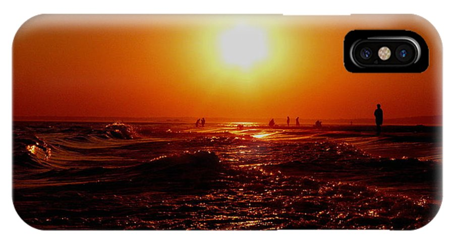 Beach IPhone X Case featuring the photograph Extreme Blazing Sun by Kendall Eutemey