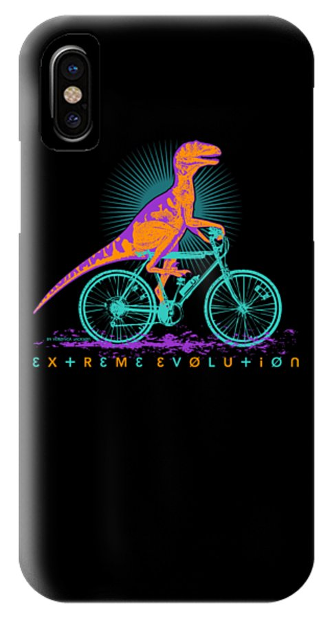 Bike IPhone X Case featuring the digital art Extreme evolution by Veronica Jackson