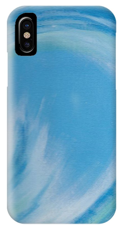 Ocean IPhone X Case featuring the painting Eye Of The Ocean by Eric Atherton