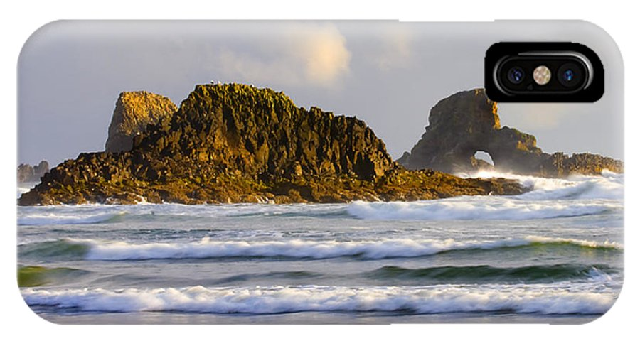 Seastacks IPhone X Case featuring the photograph Eye Of The Storm by Mike Dawson