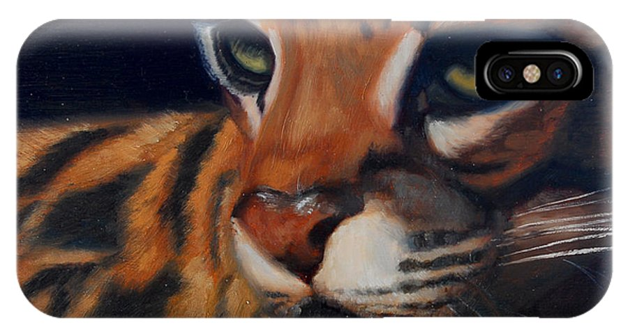 Painting IPhone Case featuring the painting Eyes Wide Open by Greg Neal