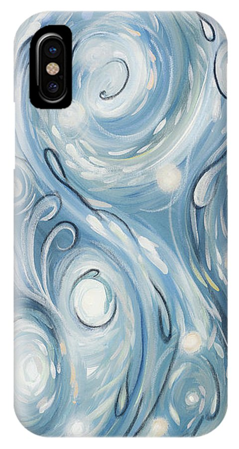 Abstract IPhone X Case featuring the painting Ezekiel Twentyseven Nine by Dinah Rau