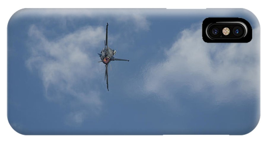 IPhone X / XS Case featuring the photograph F-16 Banking Afterburn by Brian Jordan