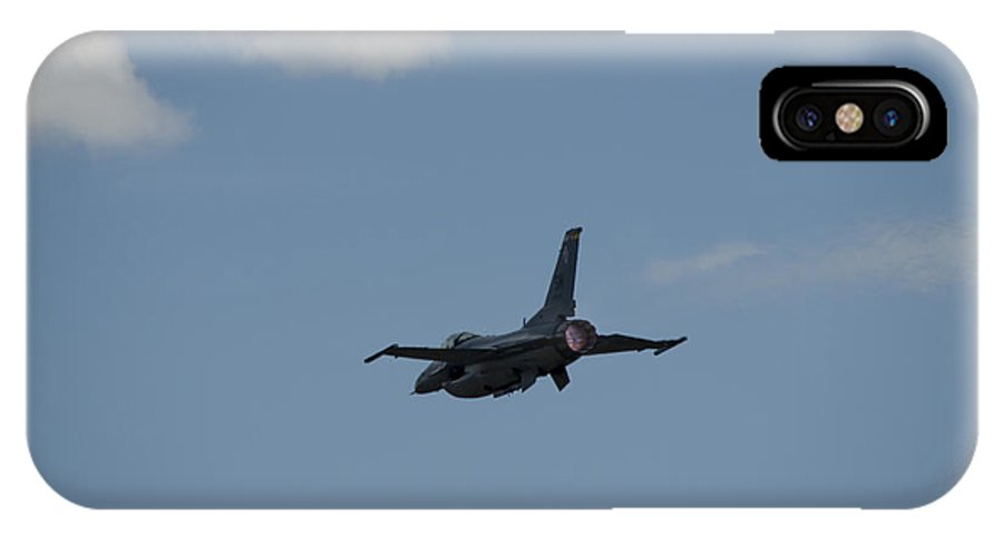 IPhone X / XS Case featuring the photograph F-16 Passing Afterburn by Brian Jordan