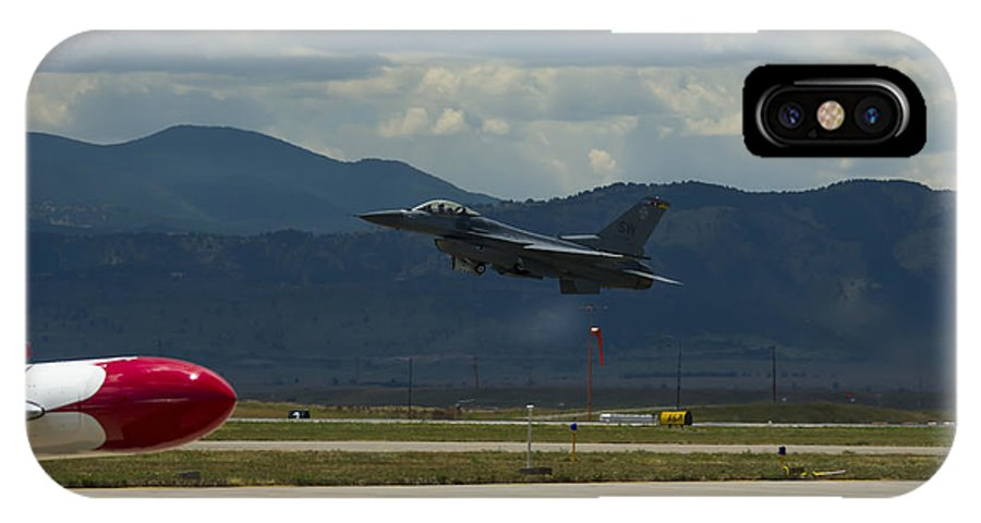 IPhone X / XS Case featuring the photograph F-16 Take Off by Brian Jordan