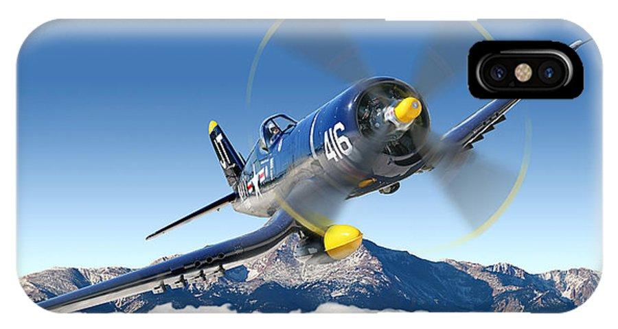F4-u Corsair IPhone X Case featuring the photograph F4-u Corsair by Larry McManus