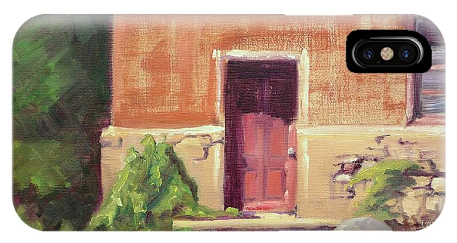 Urban IPhone Case featuring the painting Faded Door by Sharon Weaver