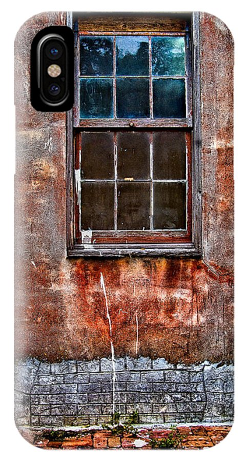 Window IPhone X / XS Case featuring the photograph Faded Over Time by Christopher Holmes