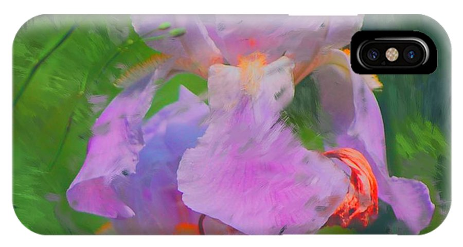 Iris IPhone X Case featuring the painting Fading Glory by David Lane