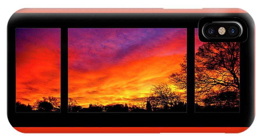 Fair Oaks IPhone X / XS Case featuring the photograph Fair Oaks Sunset by Soroush Mostafanejad