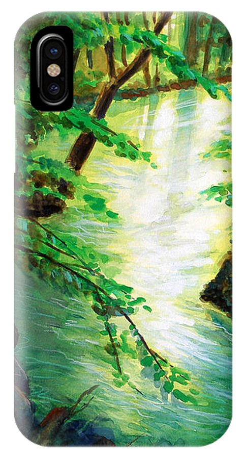 Forest IPhone X Case featuring the painting Fairfax Summer by Ken Meyer