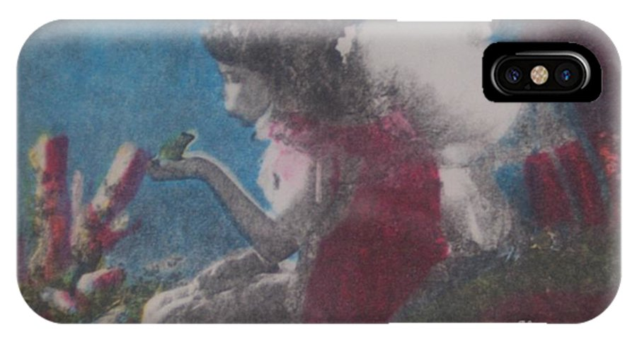 Fairy IPhone Case featuring the mixed media Fairy by Emily Young