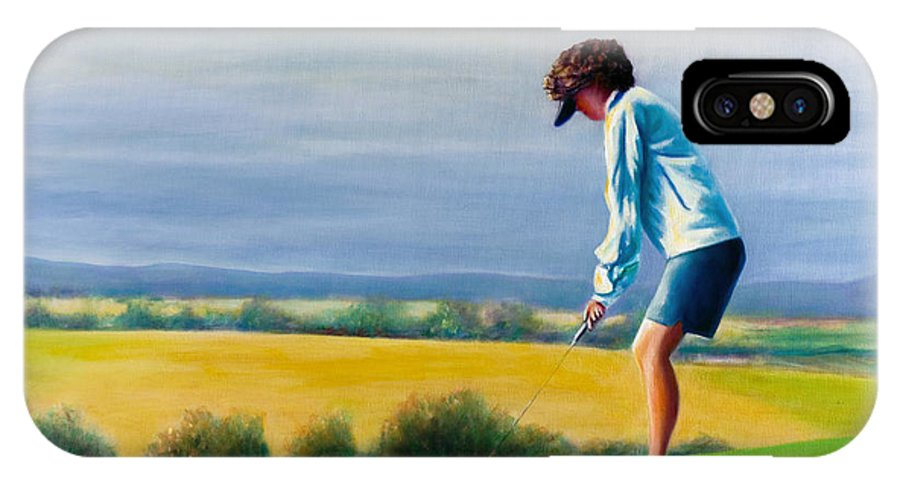 Golfer IPhone Case featuring the painting Fairy Golf Mother by Shannon Grissom