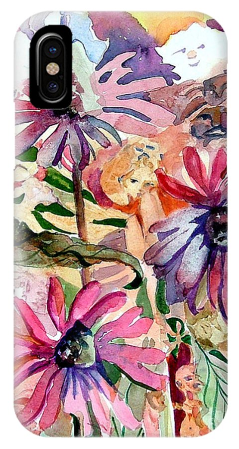 Daisy IPhone X Case featuring the painting Fairy Land by Mindy Newman