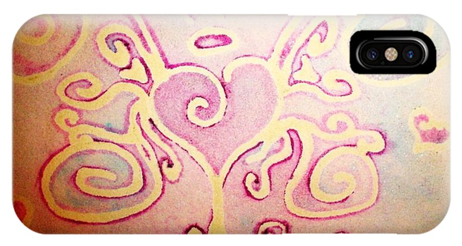 Love IPhone X Case featuring the painting Fairylove by Chandelle Hazen