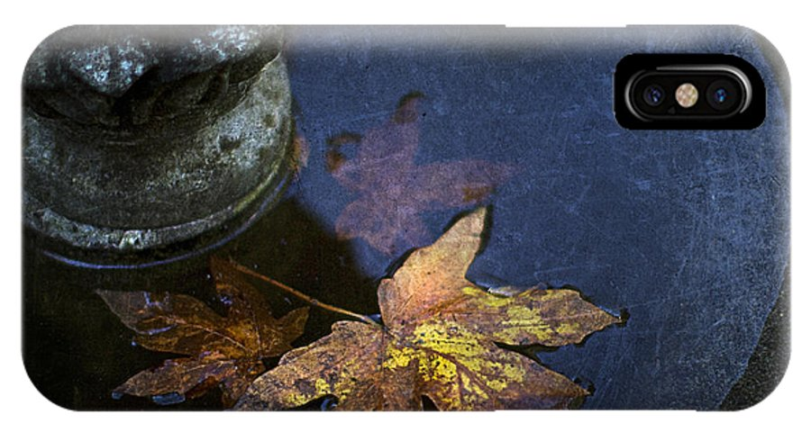 Fountain IPhone X / XS Case featuring the photograph Fall At The Fountain by Rebecca Cozart
