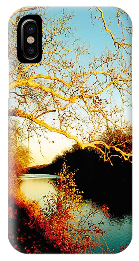 River IPhone X Case featuring the photograph Fall At The Raritan River In New Jersey by Christine Till
