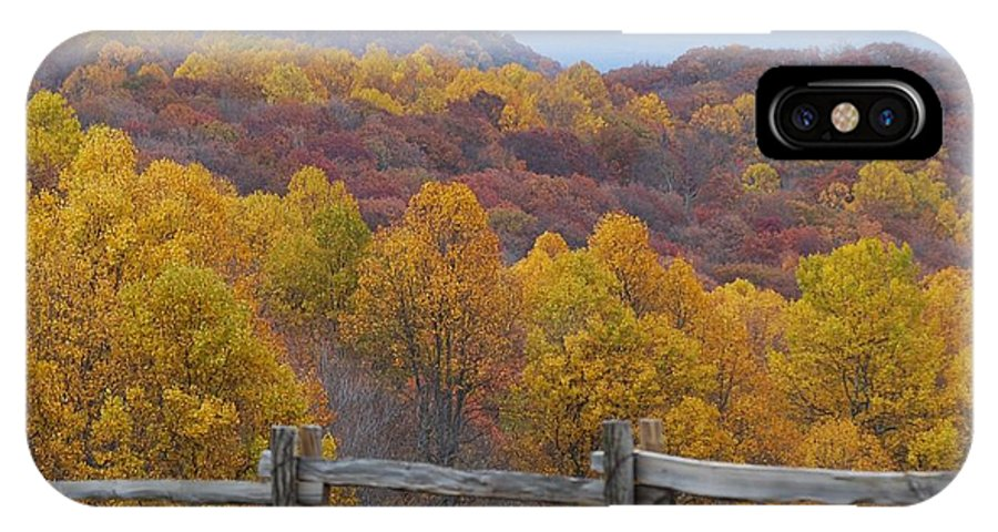 Fence IPhone X Case featuring the photograph Fall Blend by Eric Liller