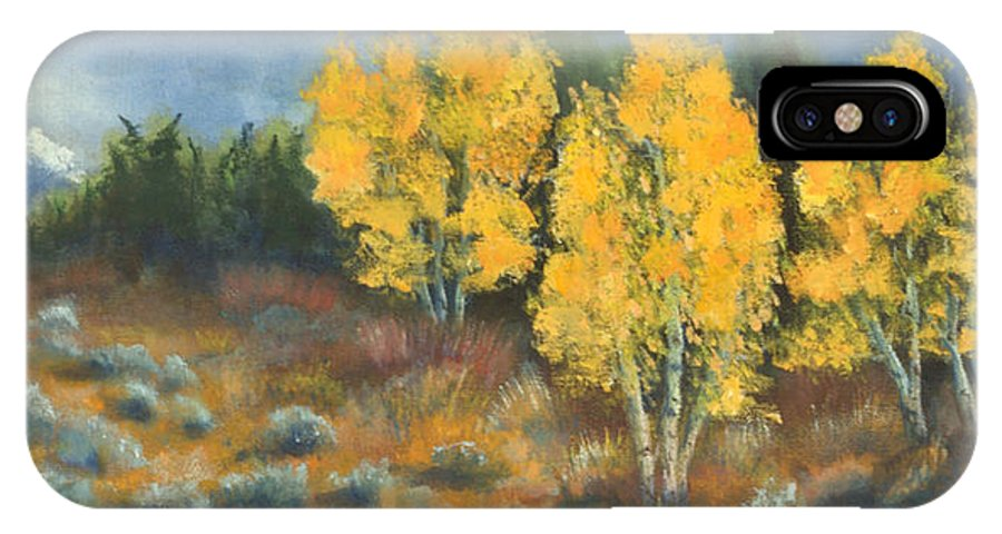 Landscape IPhone X Case featuring the painting Fall Delight by Jerry McElroy