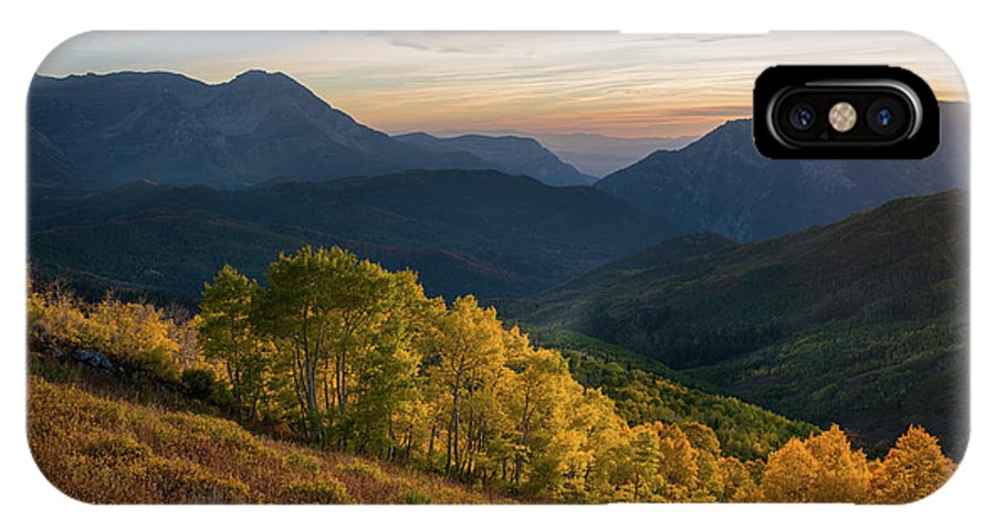 American Fork Canyon IPhone X Case featuring the photograph Fall Evening In American Fork Canyon by James Udall