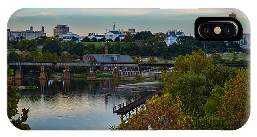 Richmond IPhone X Case featuring the photograph Fall Evening In Richmond by Aaron Dishner