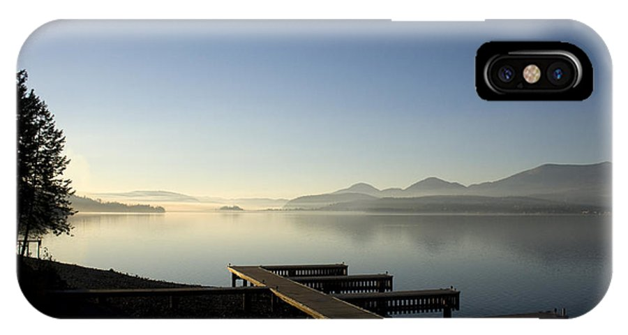 Landscape IPhone X Case featuring the photograph Fall Evening by Lee Santa
