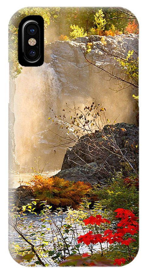 Fall IPhone X Case featuring the photograph Fall Falls Mist Dead River Falls Marquette Mi by Michael Bessler