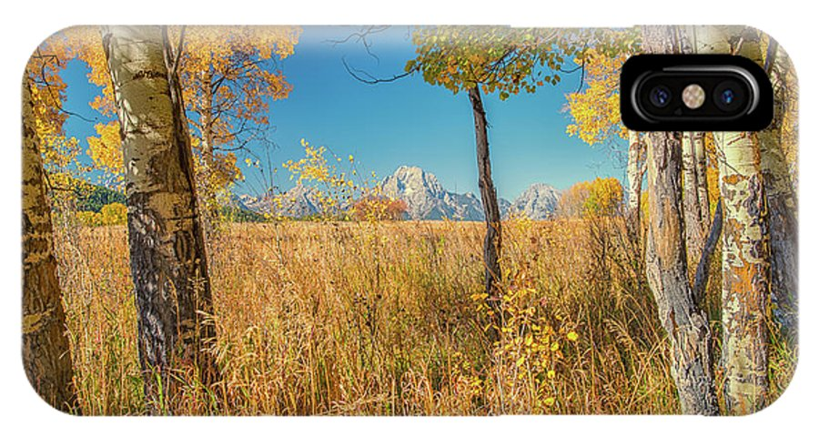 Luis Ramirez IPhone X Case featuring the photograph Fall From Oxbow Bend In Grand Tetons by Luis A Ramirez