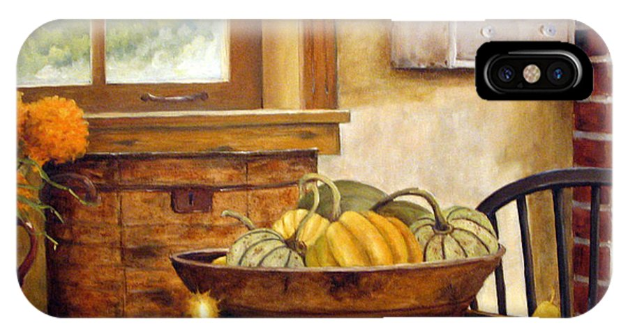 Fall IPhone X Case featuring the painting Fall Harvest by Richard T Pranke