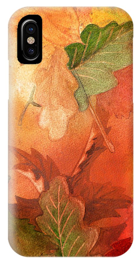 Fall IPhone X Case featuring the painting Fall Impressions V by Irina Sztukowski