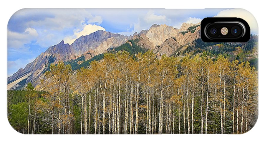 Fall IPhone X Case featuring the photograph Fall In The Rockies by Teresa Zieba