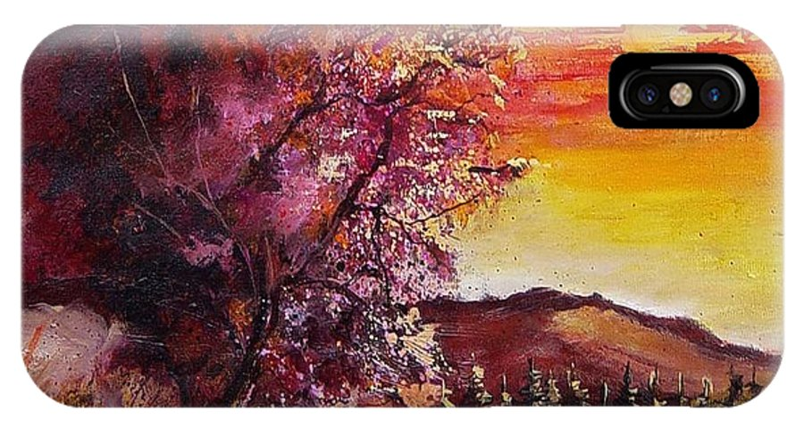 Autumn IPhone X Case featuring the painting Fall In Villers by Pol Ledent