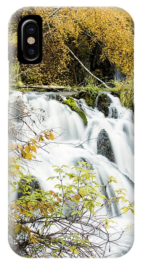 Waterfall IPhone X Case featuring the photograph Fall by Melinda Anderson